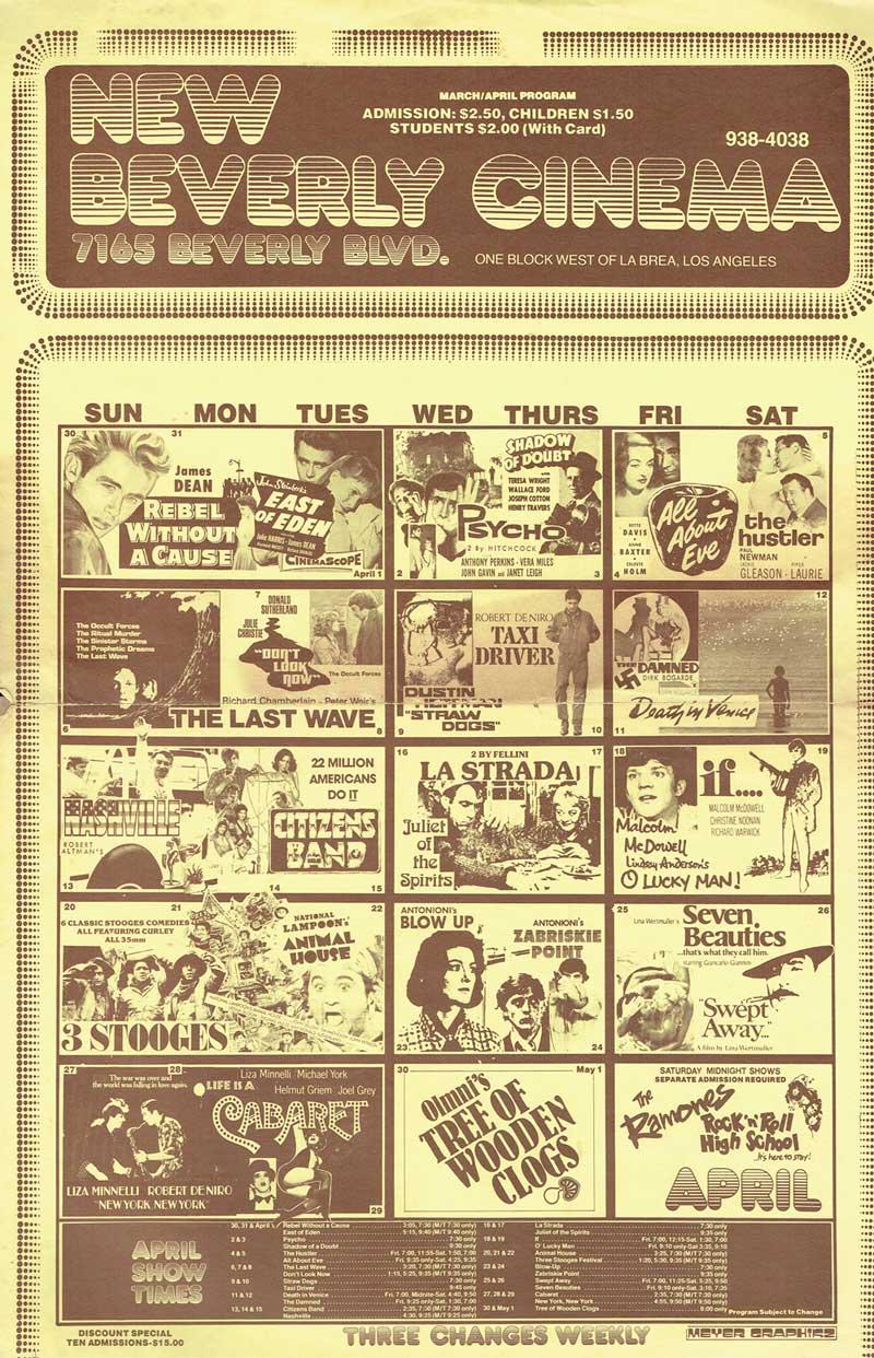 1980 New Beverly Cinema