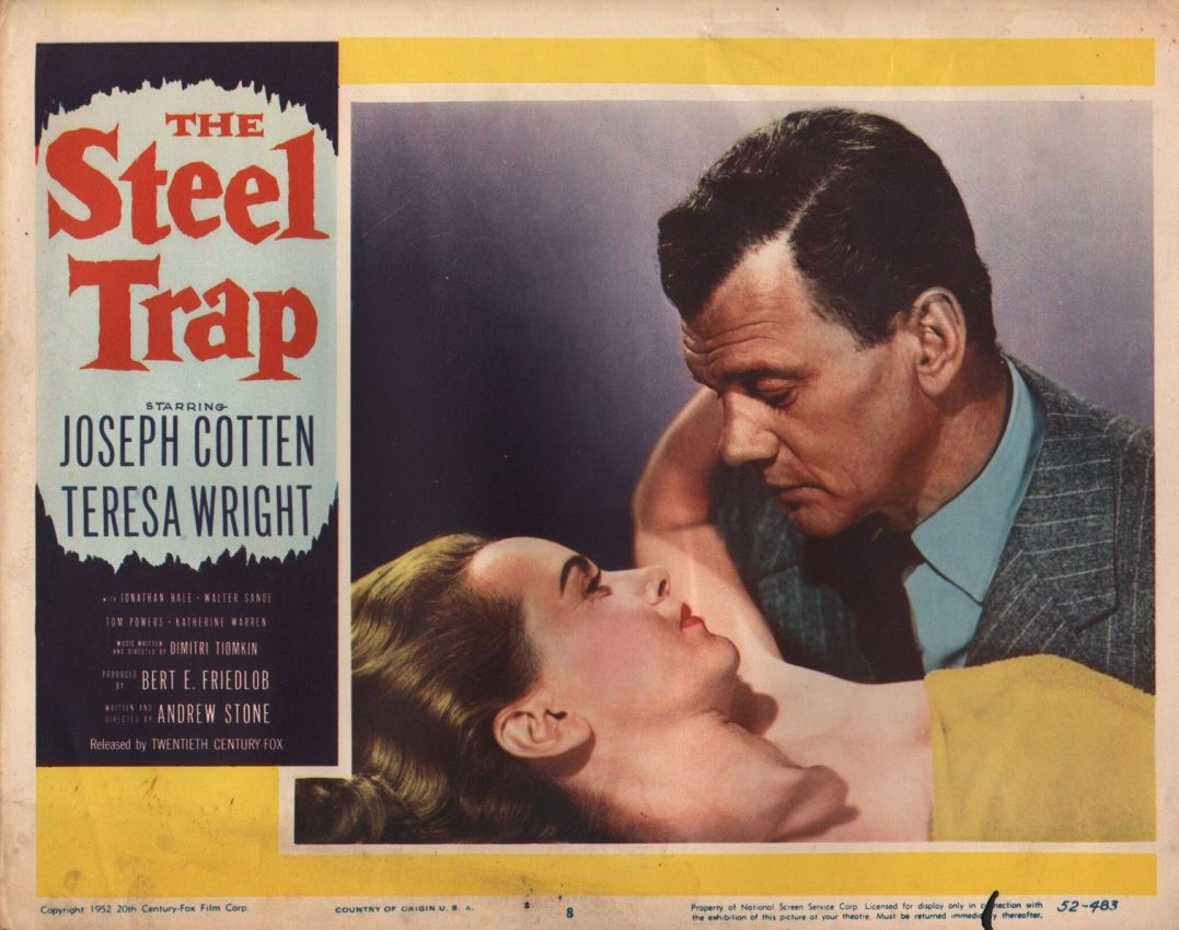 The Steel Trap (1952) lobby card