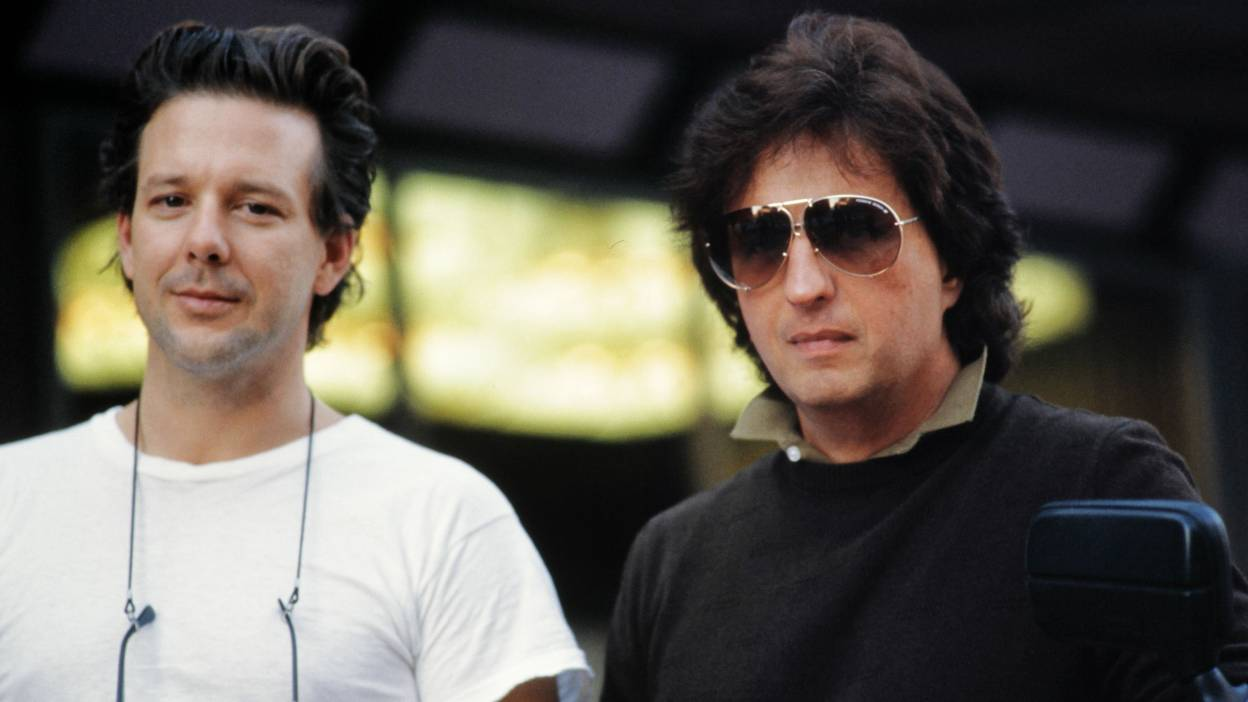 Mickey Rourke and Michael Cimino on the set of Year of the Dragon