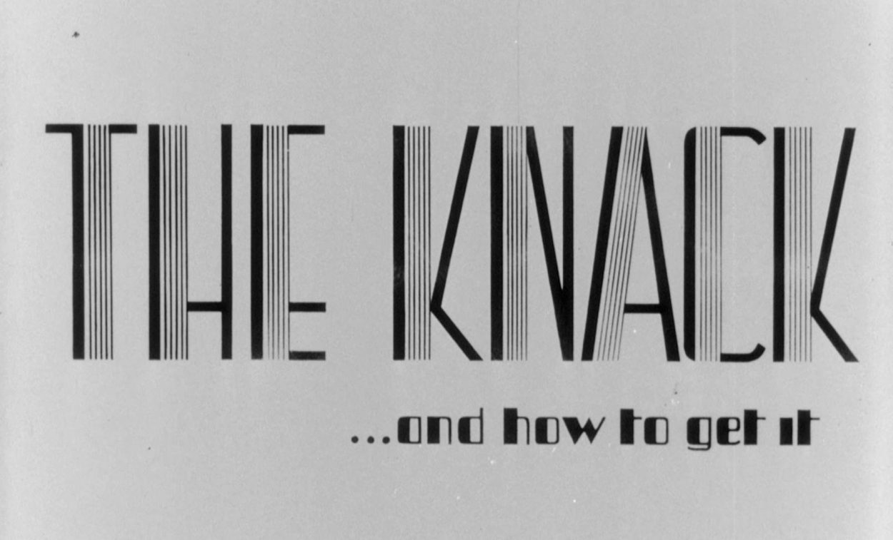 The Knack and How to Get it title card