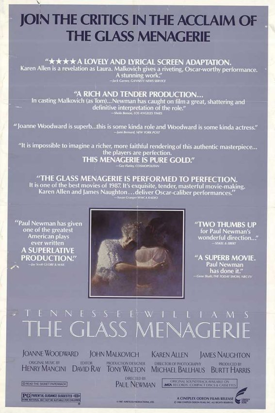 the glass menagerie criticism A critical overview of the glass menagerie by tennessee williams, including historical reactions to the work and the author when the glass menagerie reached the new york stage in 1945, it was a resounding success a year earlier, it had also been successful in chicago, despite poor weather.