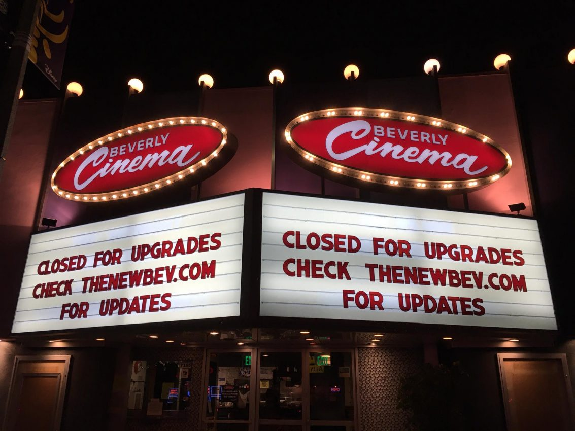 closed for upgrades marquee