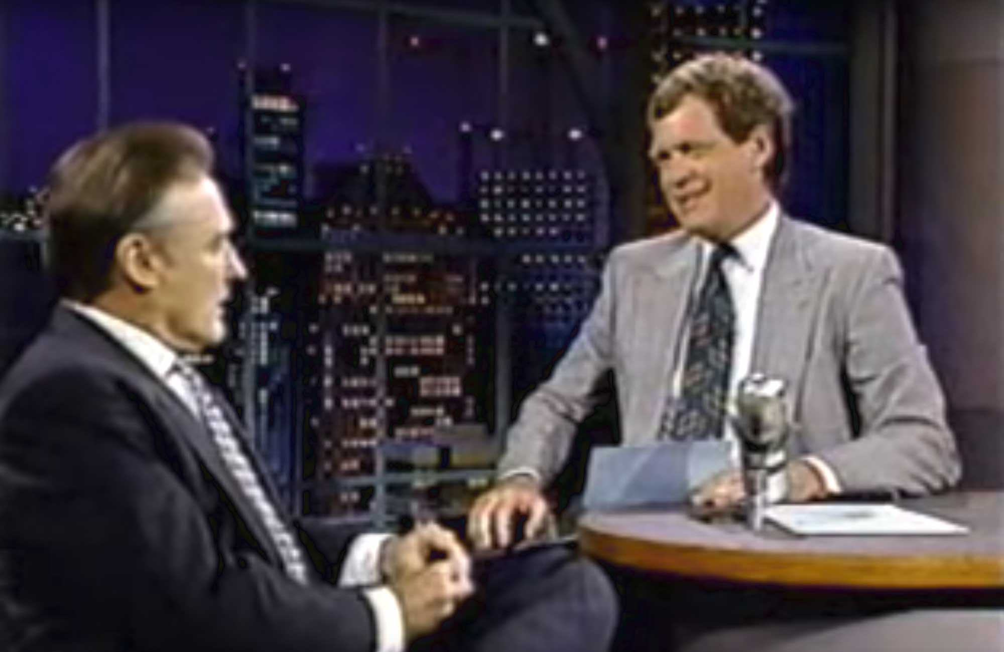Dennis Hopper on Letterman