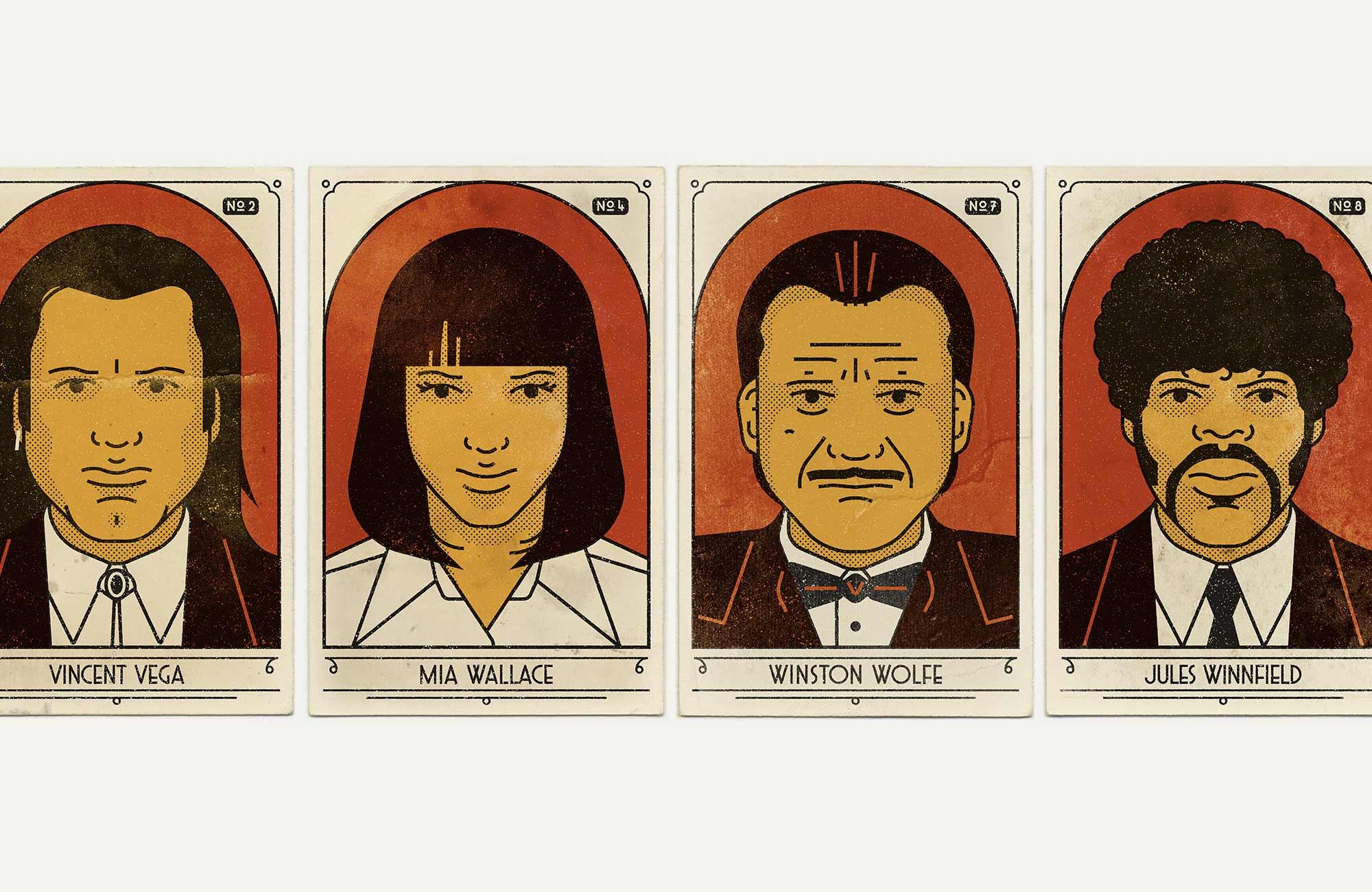 Pulp Fiction Cigarette Cards