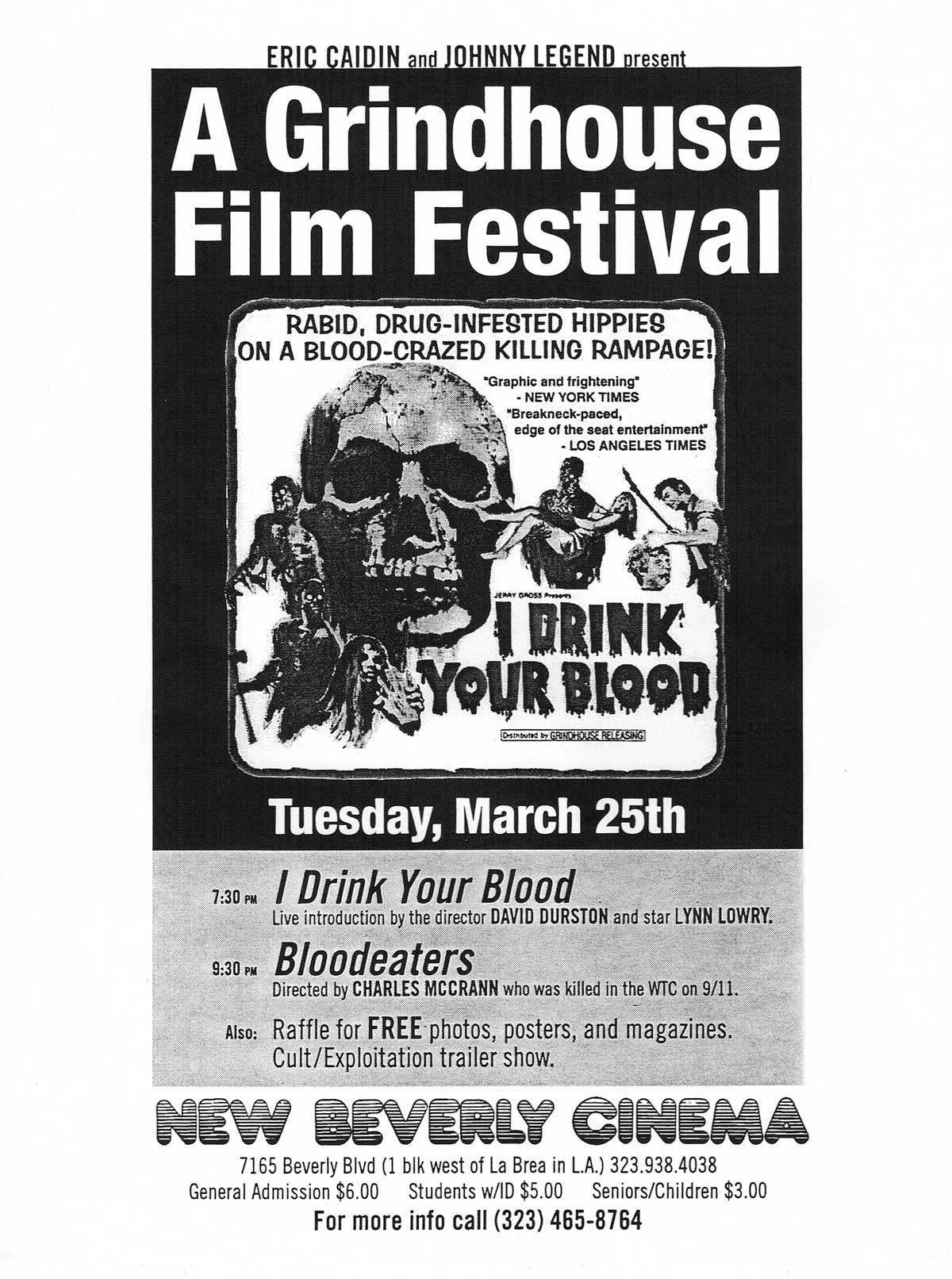 Topic: Grindhouse Film Festival   New Beverly Cinema