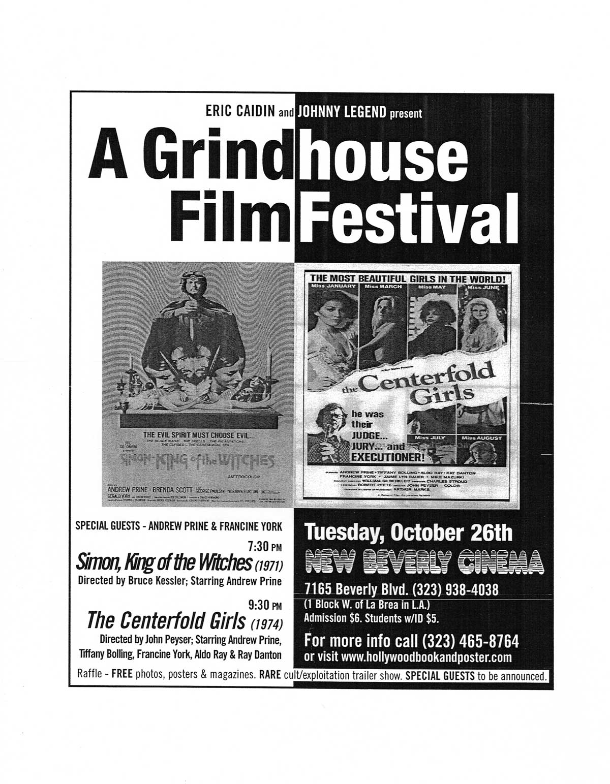 Topic: Grindhouse Film Festival | New Beverly Cinema