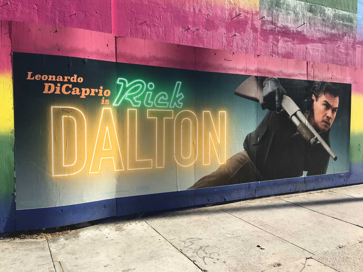 Once Upon A Time In... Hollywood banner poster Rick Dalton