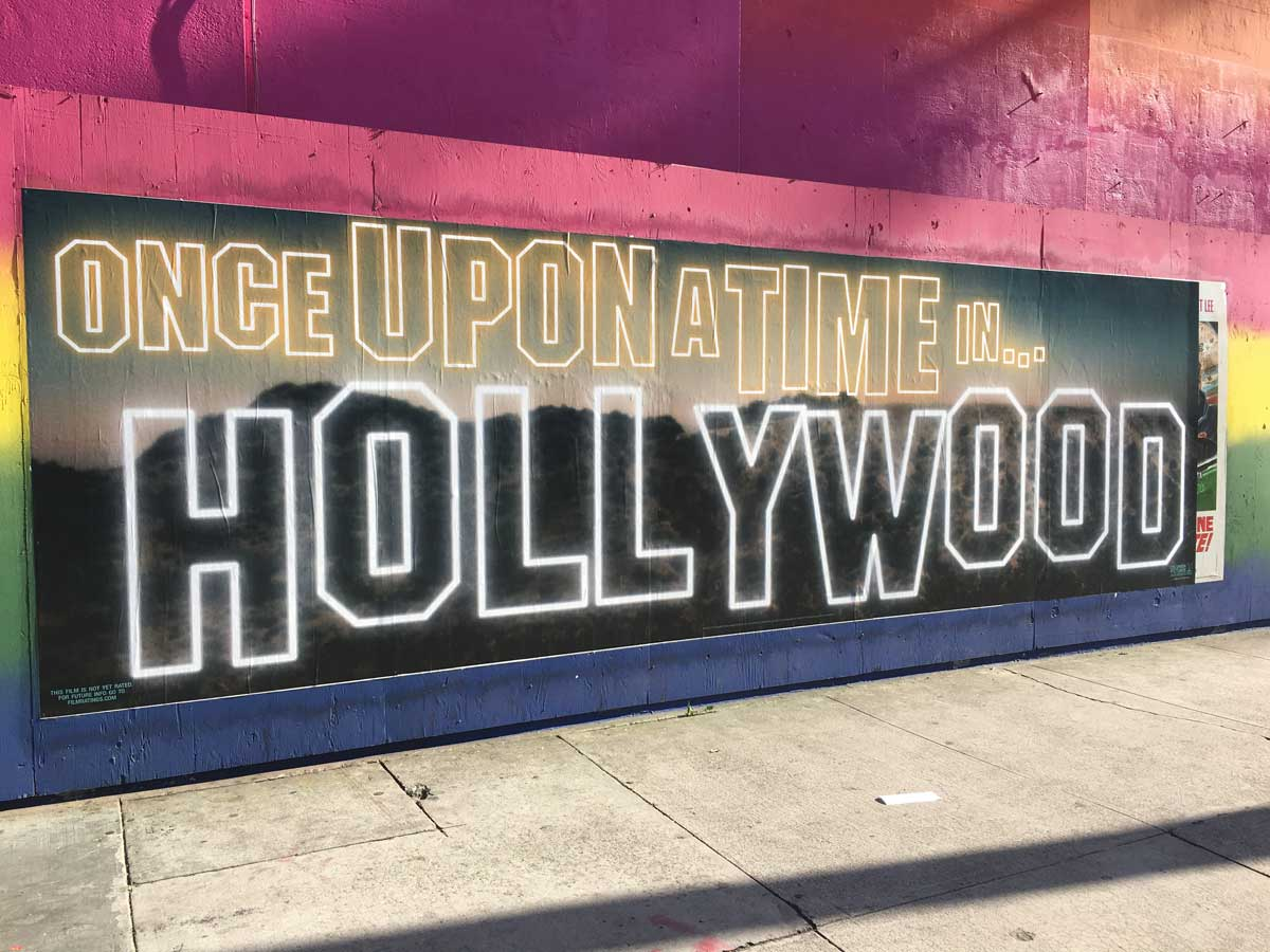 Once Upon A Time In... Hollywood banner poster