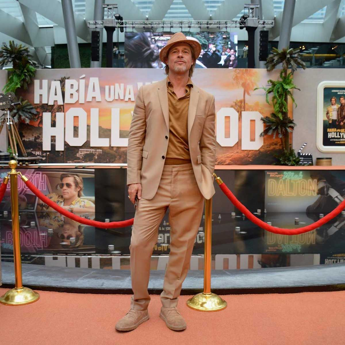 Brad Pitt Once Upon a Time in Hollywood Premiere in Mexico