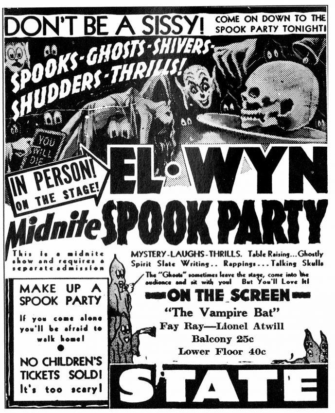 El Wyn midnight spook party